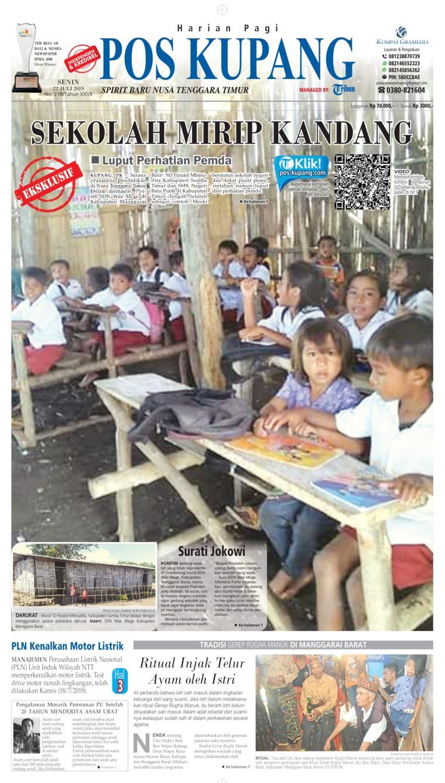 Pos Kupang Digital Newspaper 22 July 2019