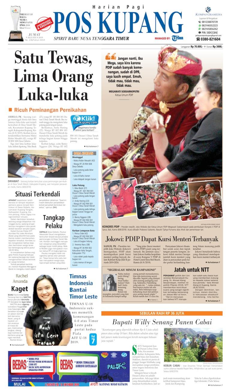 Pos Kupang Digital Newspaper 09 August 2019