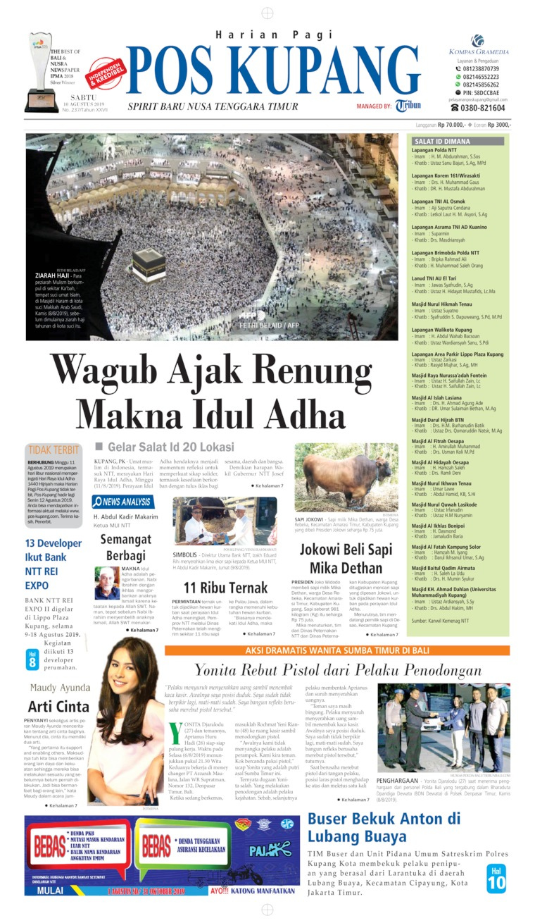 Pos Kupang Digital Newspaper 10 August 2019