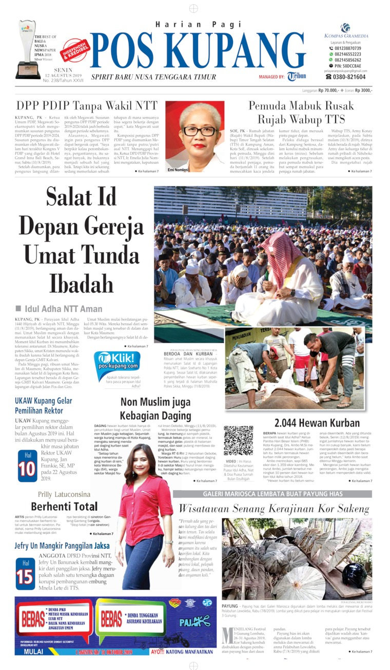 Pos Kupang Digital Newspaper 12 August 2019