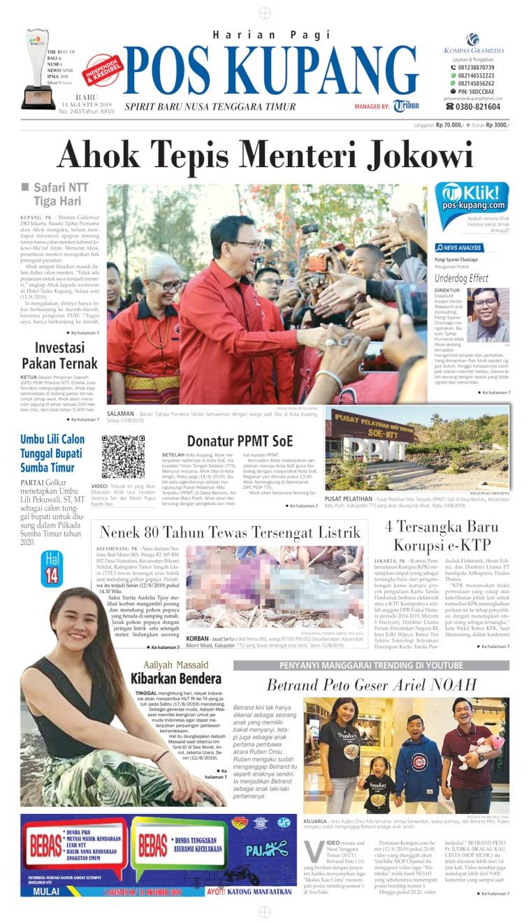 Pos Kupang Digital Newspaper 14 August 2019