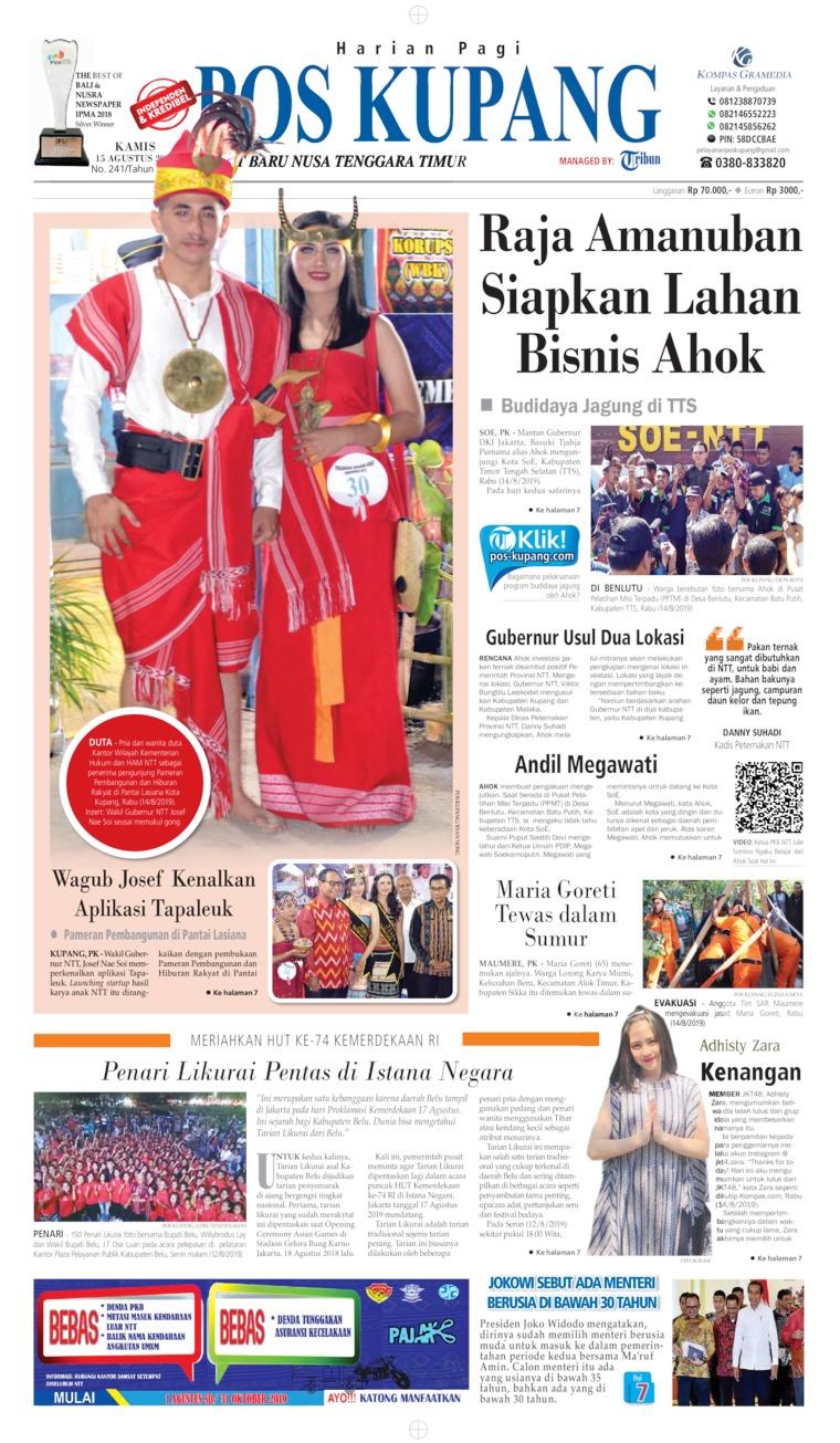 Koran Digital Pos Kupang 16 Agustus 2019
