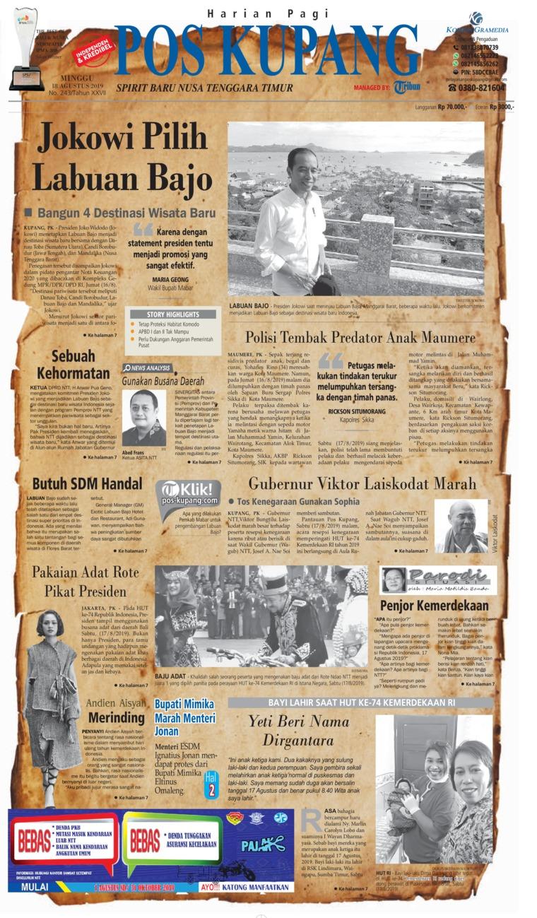 Pos Kupang Digital Newspaper 18 August 2019