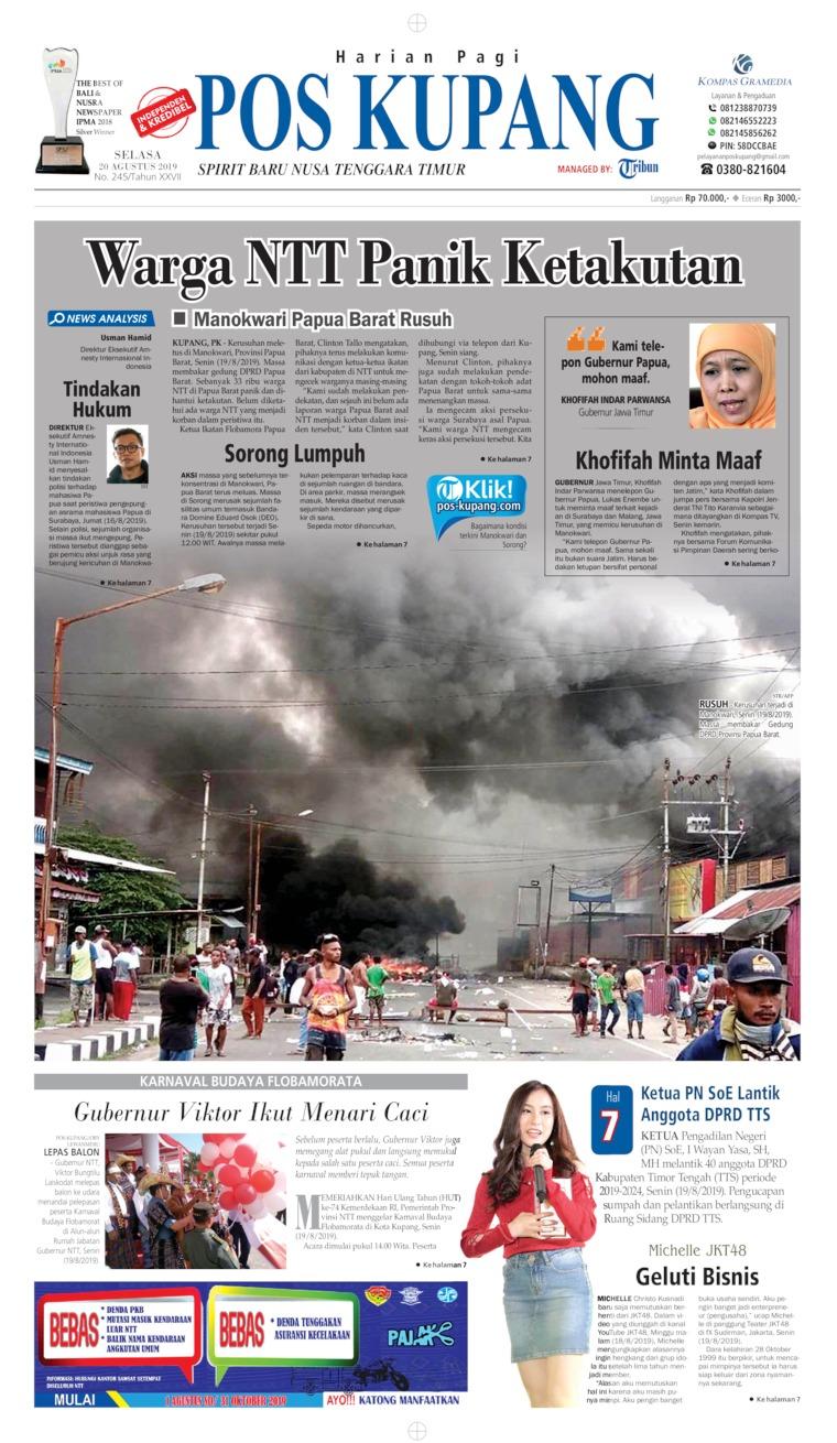 Koran Digital Pos Kupang 20 Agustus 2019