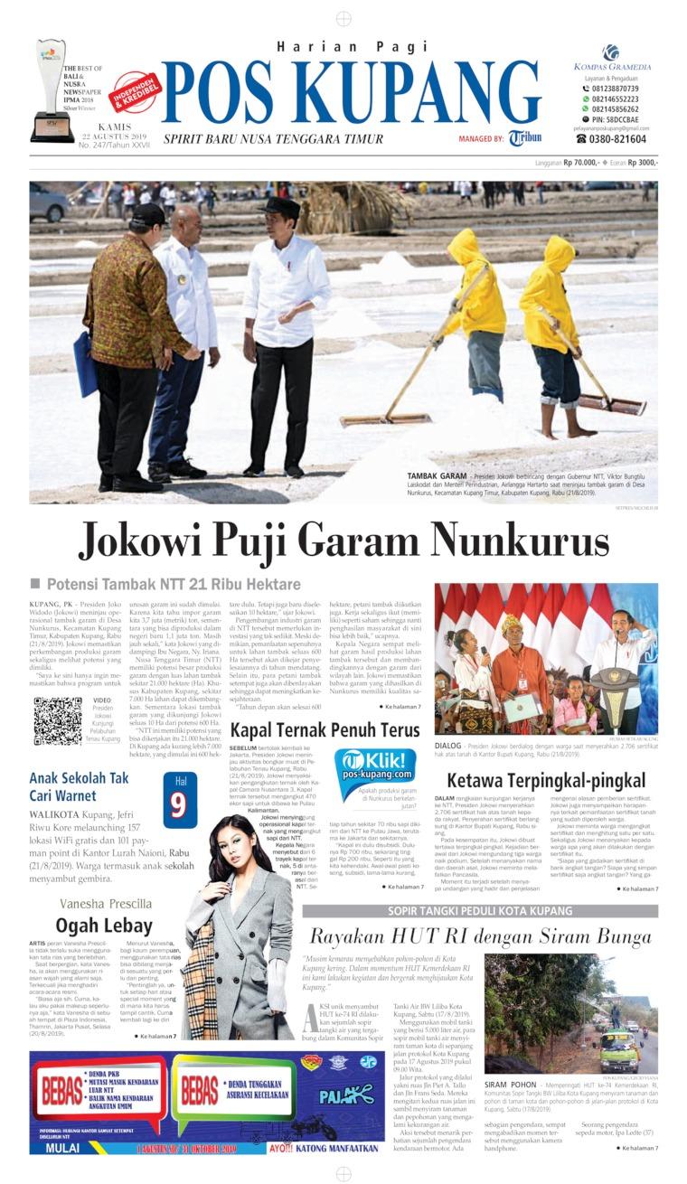 Pos Kupang Digital Newspaper 22 August 2019