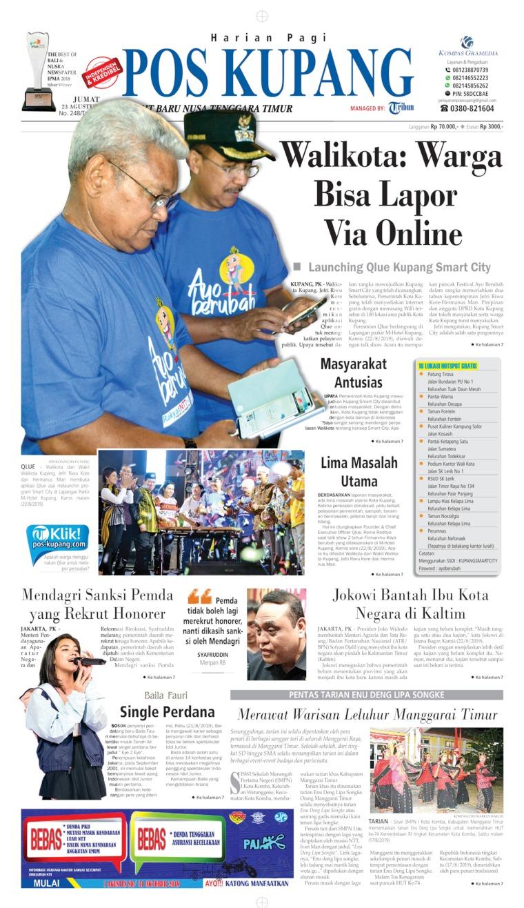 Koran Digital Pos Kupang 23 Agustus 2019