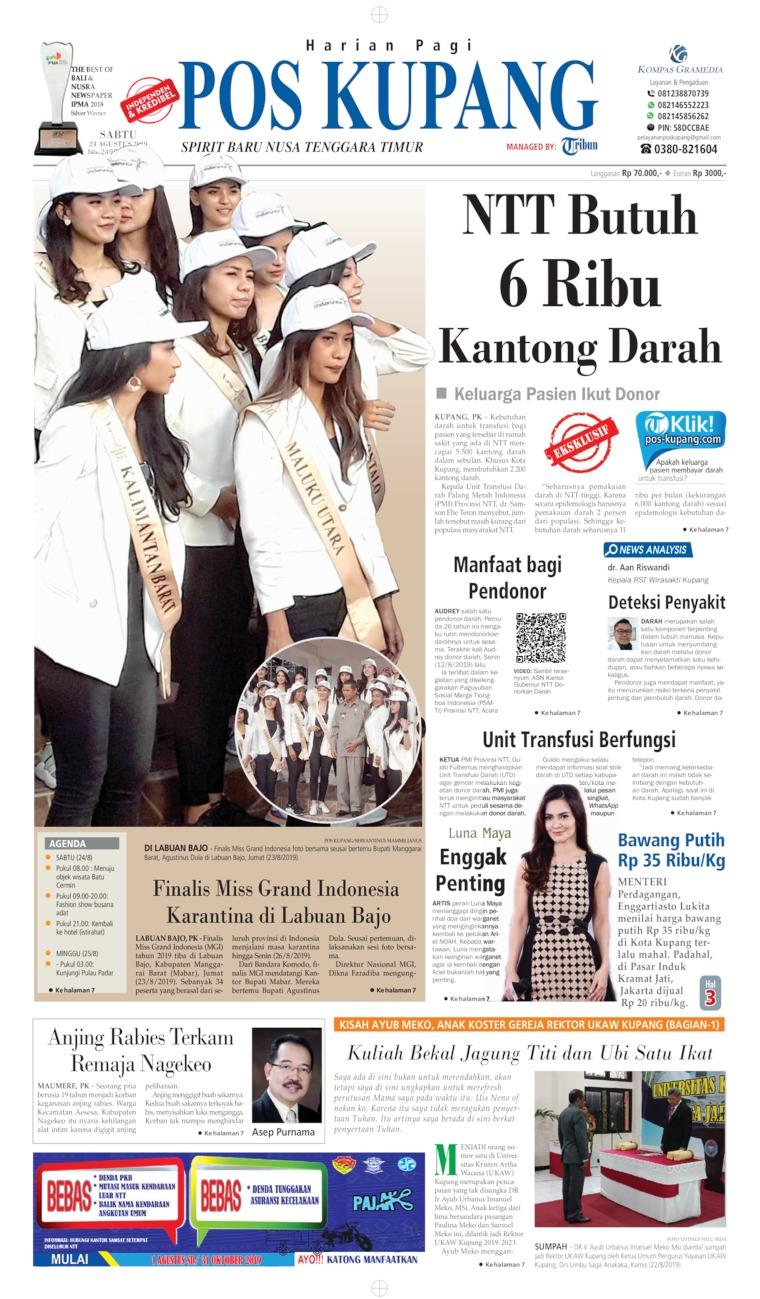 Koran Digital Pos Kupang 24 Agustus 2019