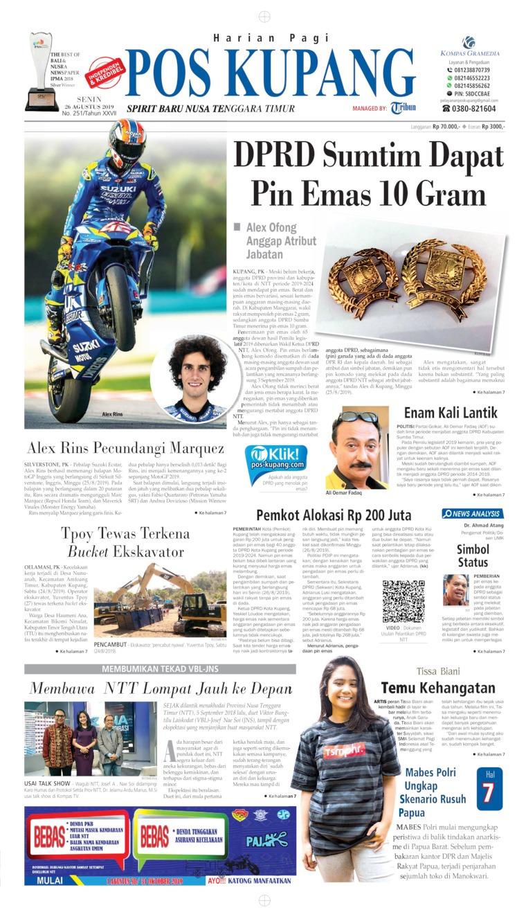Pos Kupang Digital Newspaper 26 August 2019