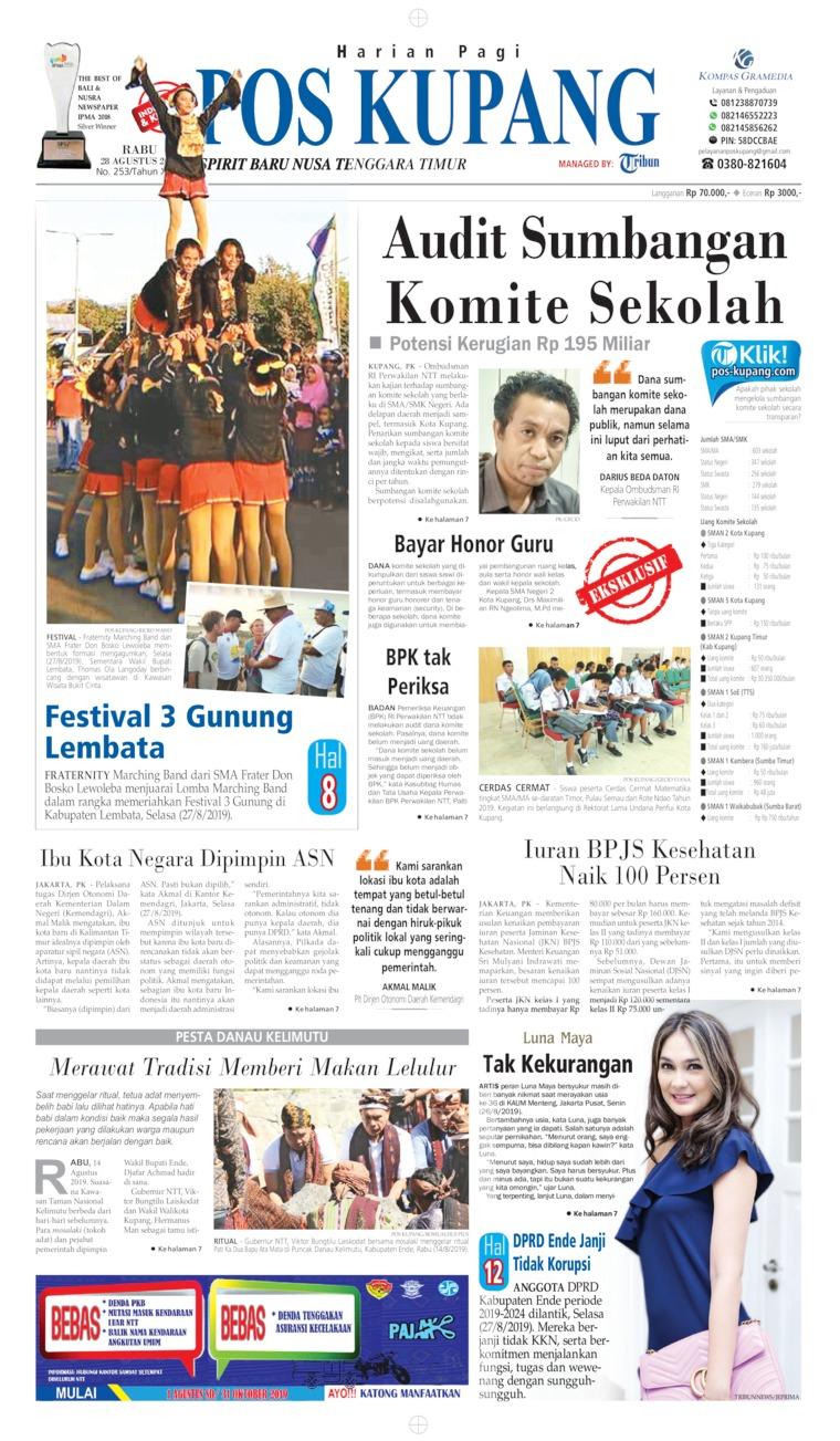 Koran Digital Pos Kupang 28 Agustus 2019