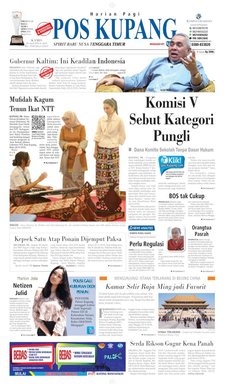 Koran Digital Pos Kupang 29 Agustus 2019