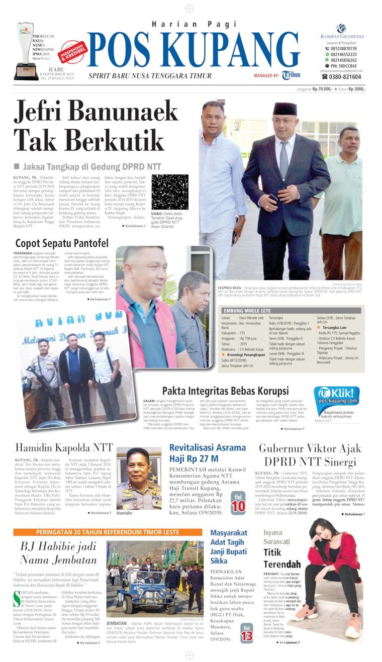 Koran Digital Pos Kupang 04 September 2019
