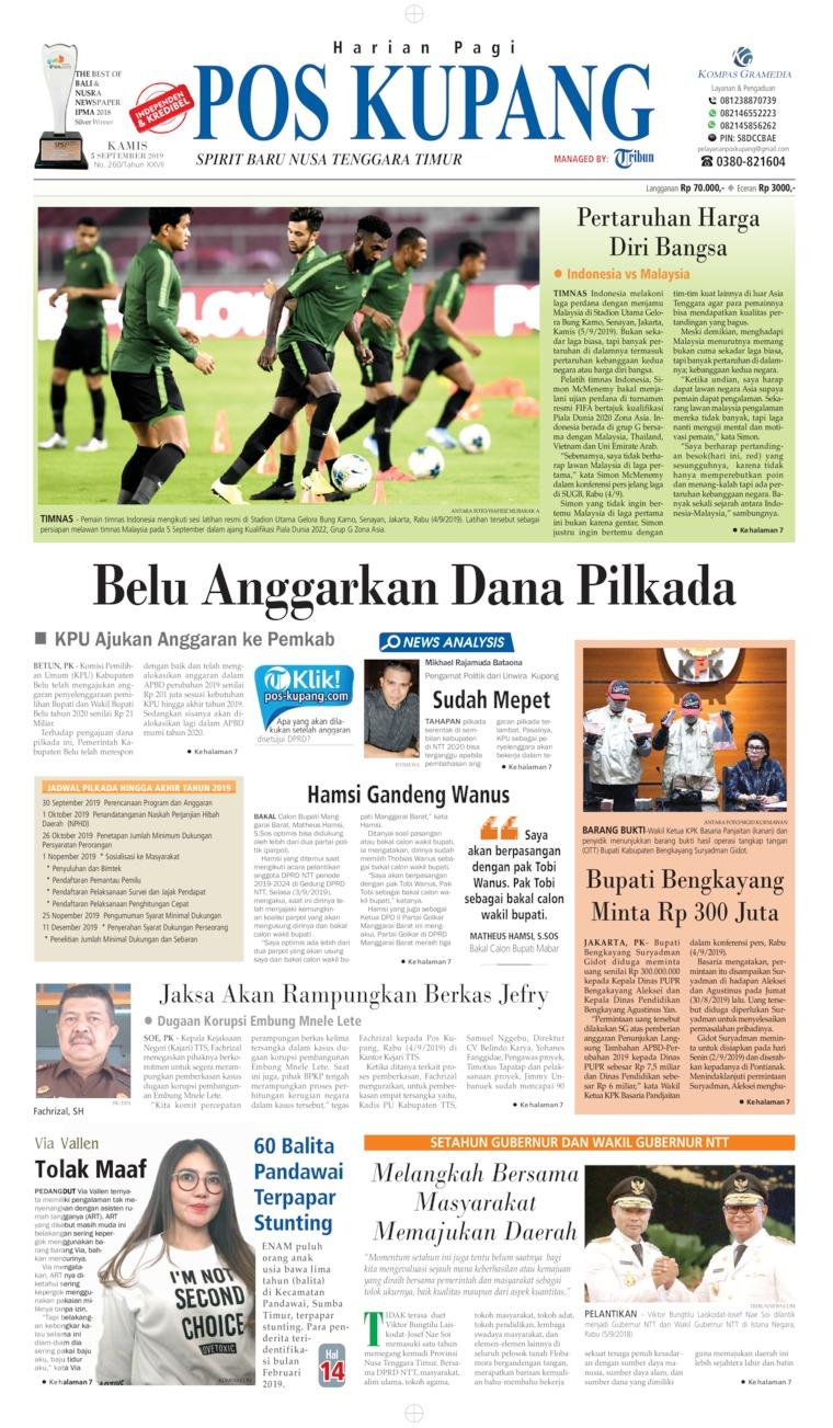 Koran Digital Pos Kupang 05 September 2019
