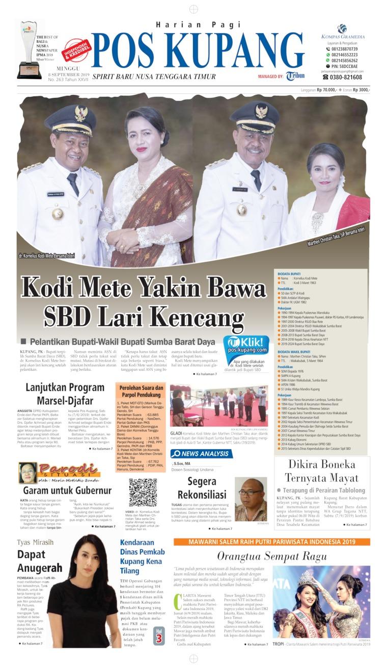 Koran Digital Pos Kupang 08 September 2019
