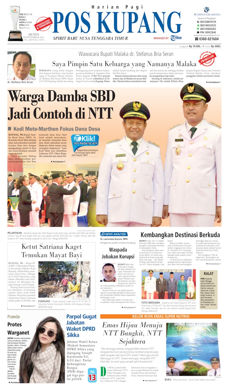 Pos Kupang Digital Newspaper 09 September 2019