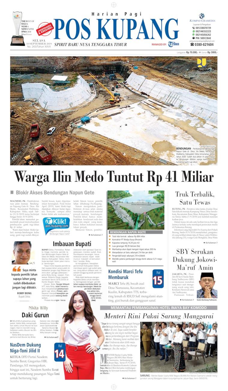 Pos Kupang Digital Newspaper 10 September 2019
