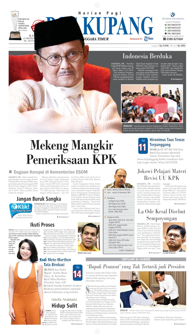 Koran Digital Pos Kupang 12 September 2019