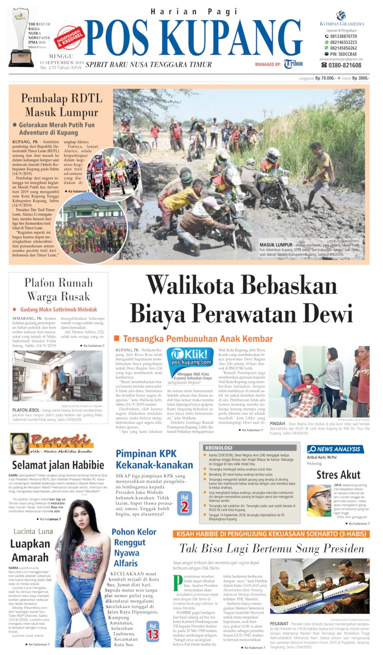 Pos Kupang Digital Newspaper 15 September 2019