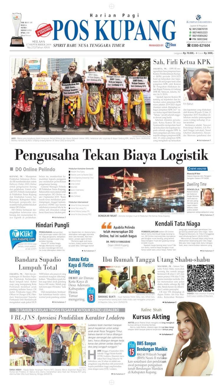 Koran Digital Pos Kupang 17 September 2019