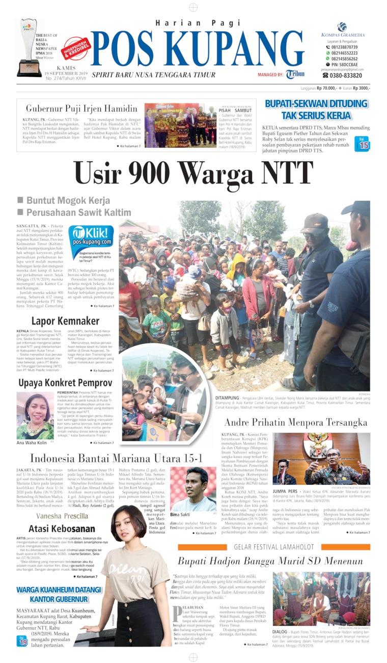 Koran Digital Pos Kupang 19 September 2019