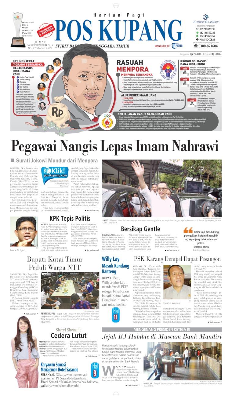 Koran Digital Pos Kupang 20 September 2019