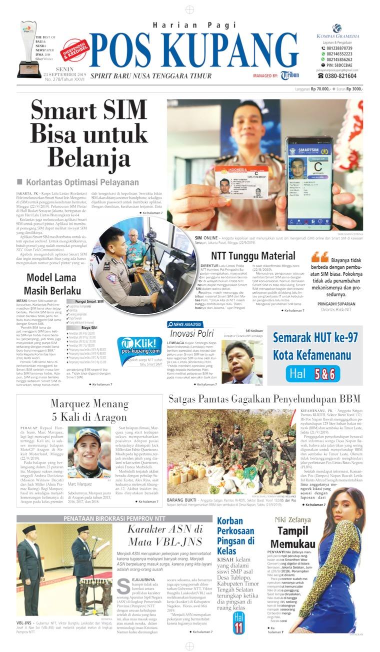 Koran Digital Pos Kupang 23 September 2019