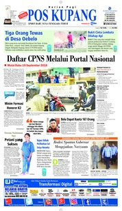 Cover Pos Kupang 18 September 2018