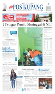 Cover Pos Kupang 25 April 2019