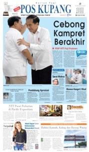 Cover Pos Kupang 14 Juli 2019