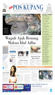 Cover Pos Kupang 10 Agustus 2019