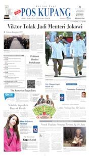 Cover Pos Kupang 22 Oktober 2019