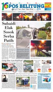 Cover Pos Belitung 22 Maret 2018