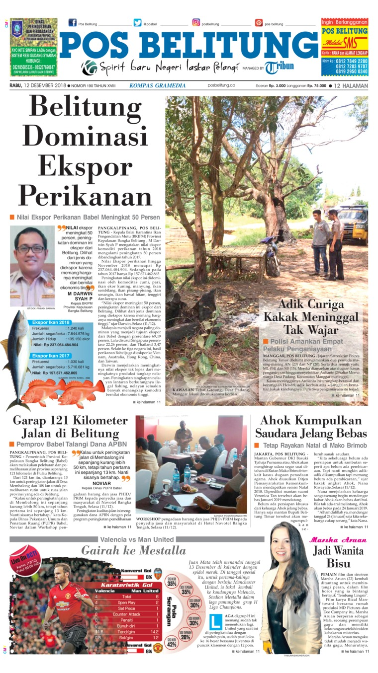 Koran Digital Pos Belitung 12 Desember 2018