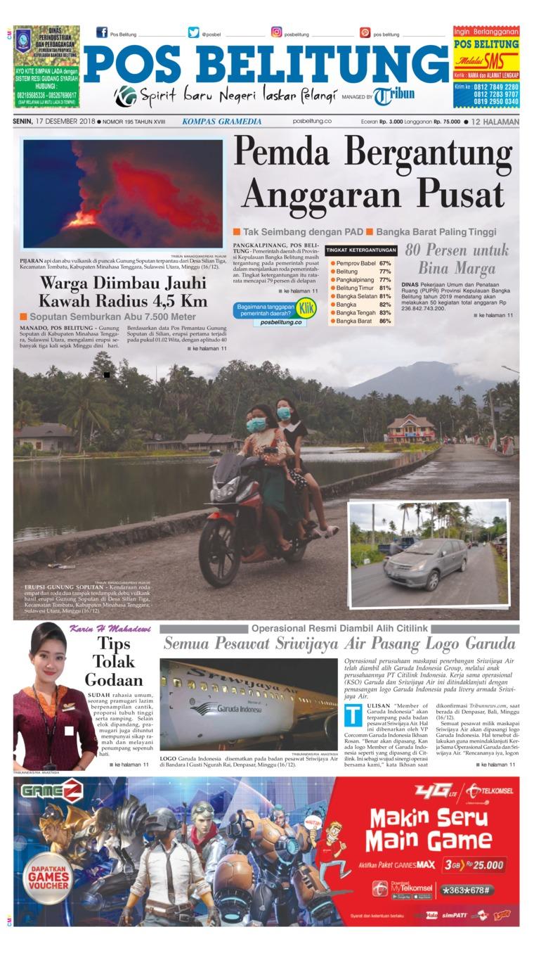 Koran Digital Pos Belitung 17 Desember 2018