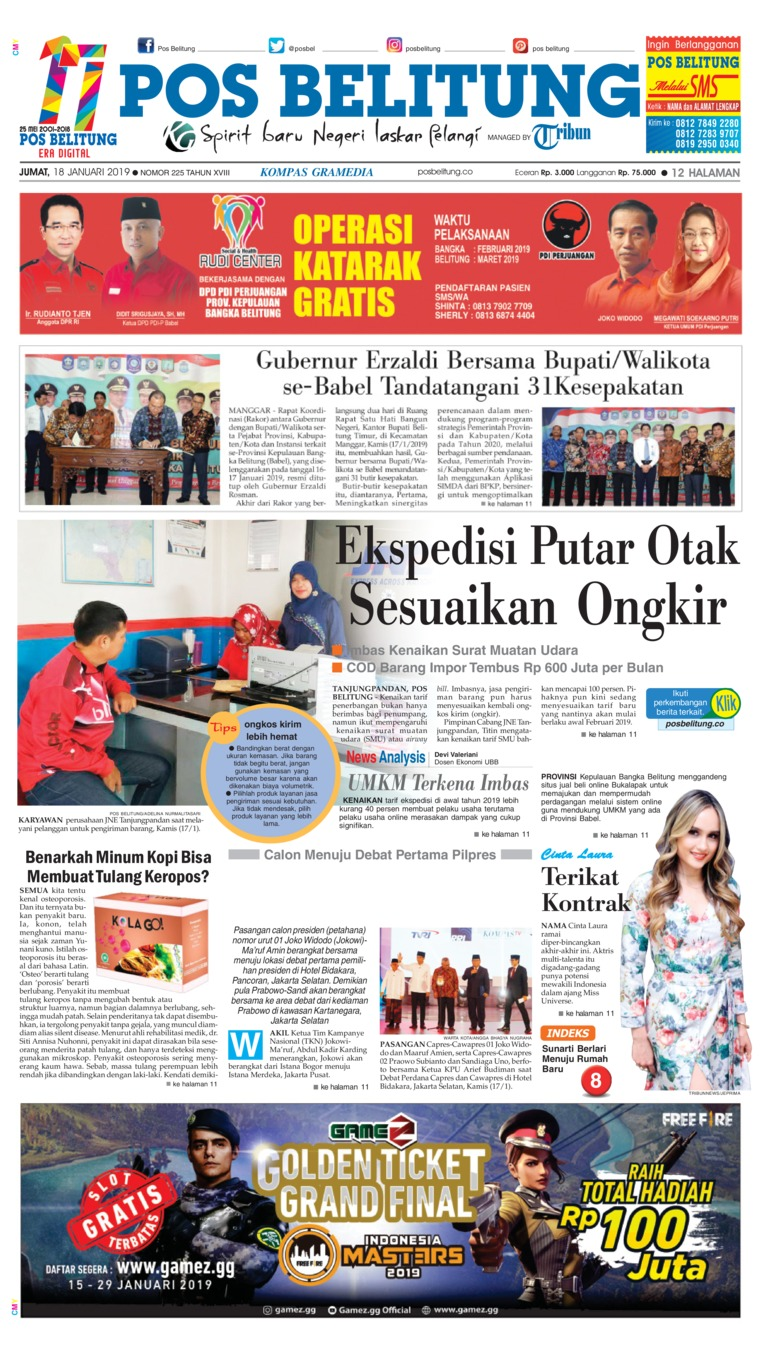 Koran Digital Pos Belitung 18 Januari 2019