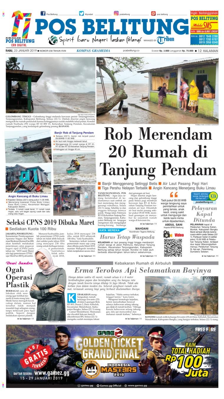 Koran Digital Pos Belitung 23 Januari 2019