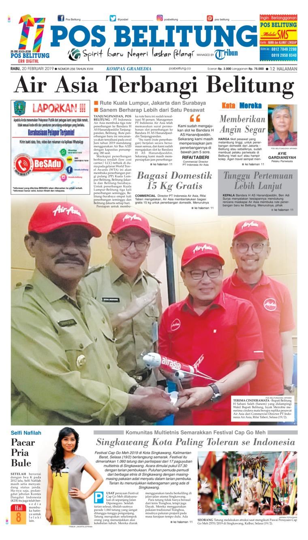 Koran Digital Pos Belitung 20 Februari 2019