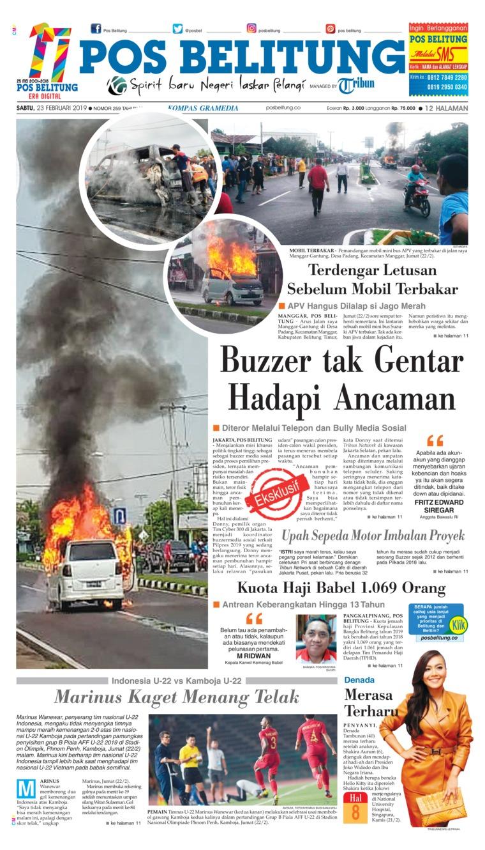 Koran Digital Pos Belitung 23 Februari 2019