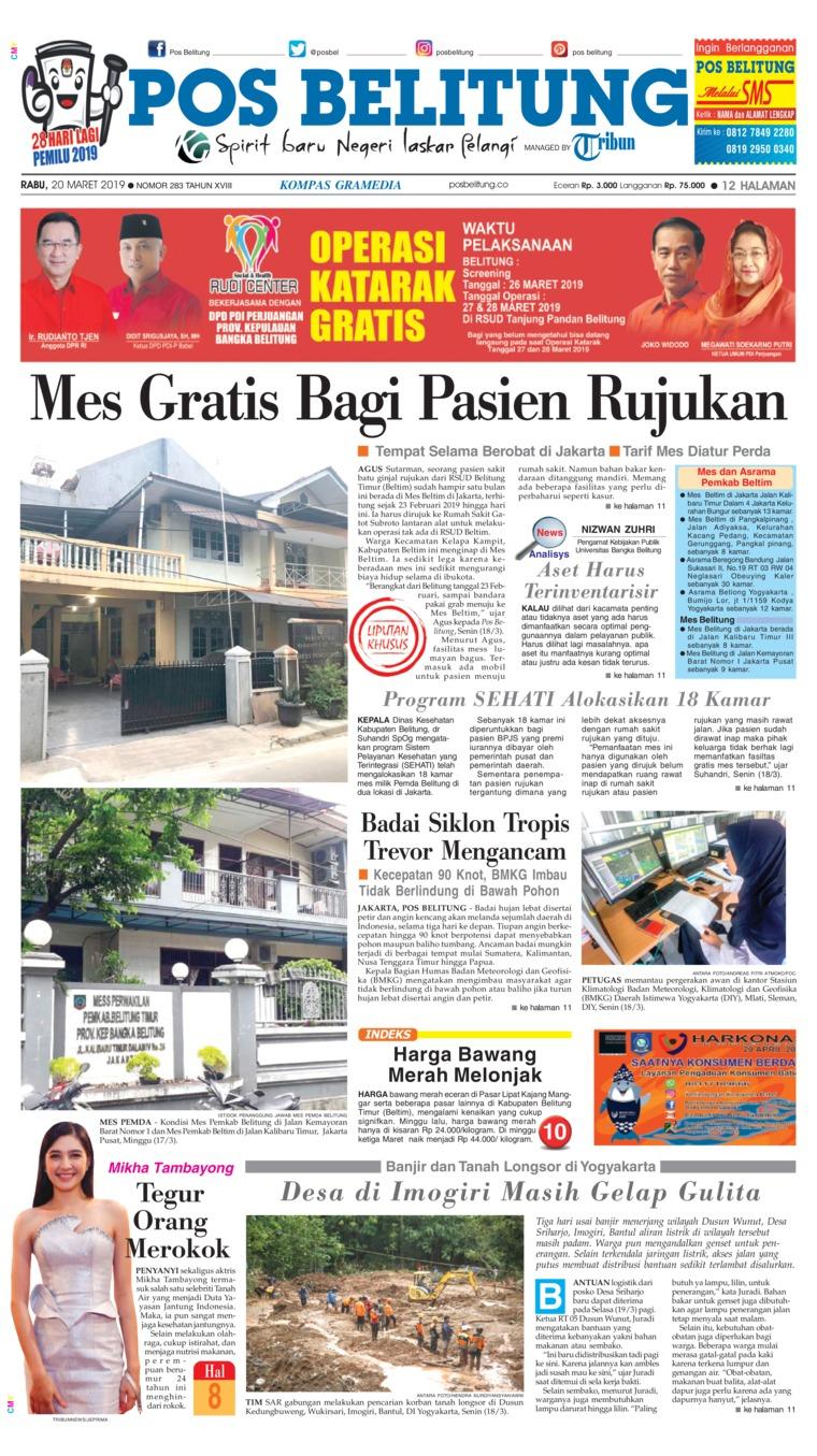 Koran Digital Pos Belitung 20 Maret 2019