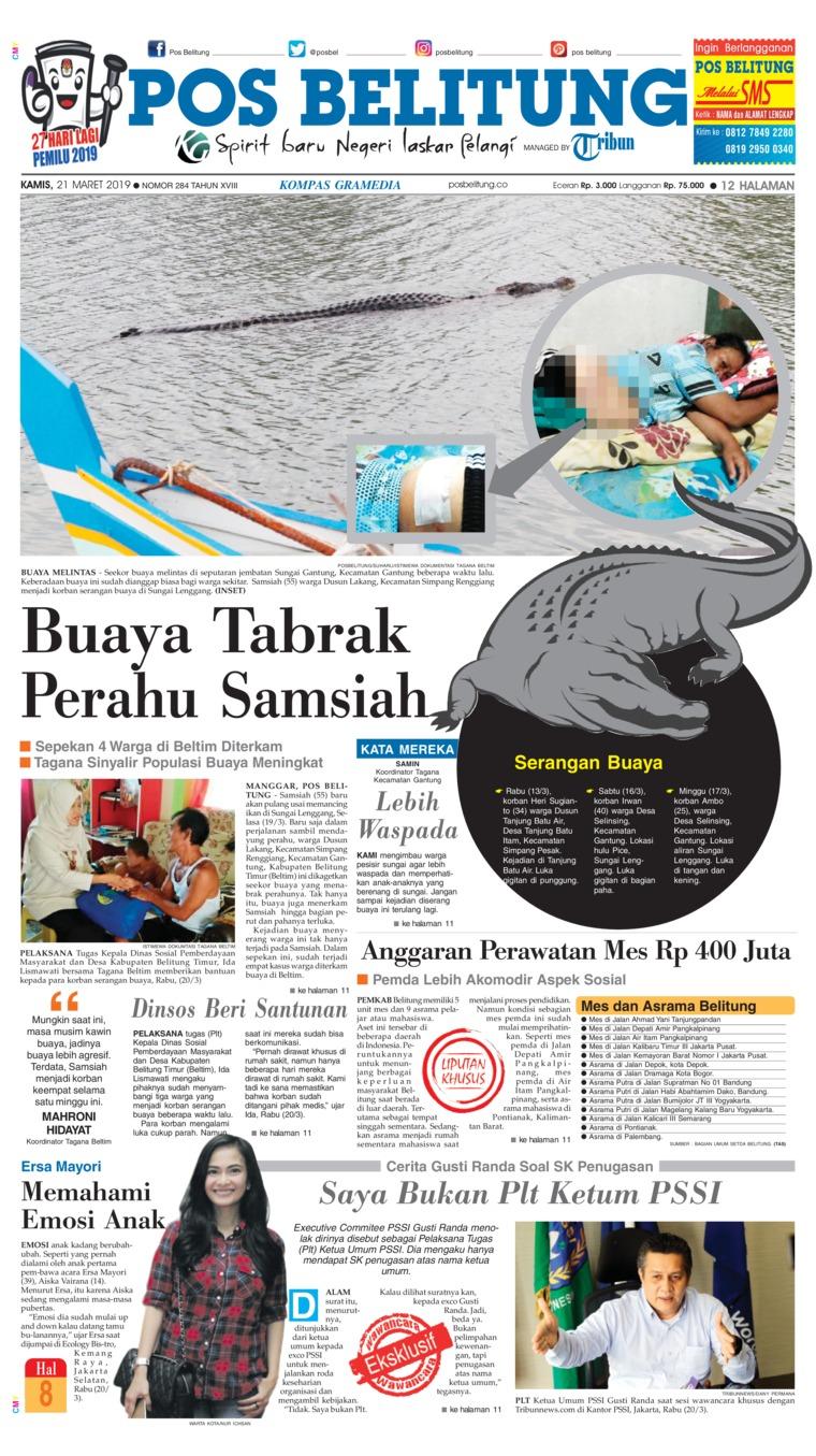 Koran Digital Pos Belitung 21 Maret 2019