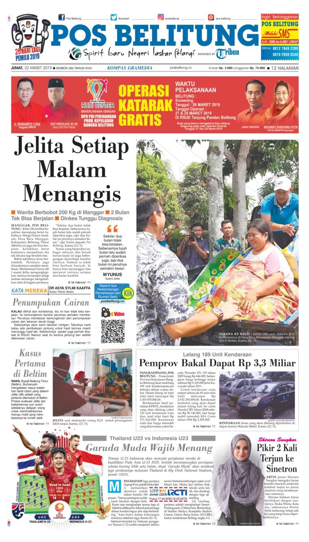 Koran Digital Pos Belitung 22 Maret 2019