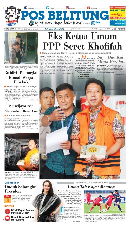 Koran Digital Pos Belitung 23 Maret 2019