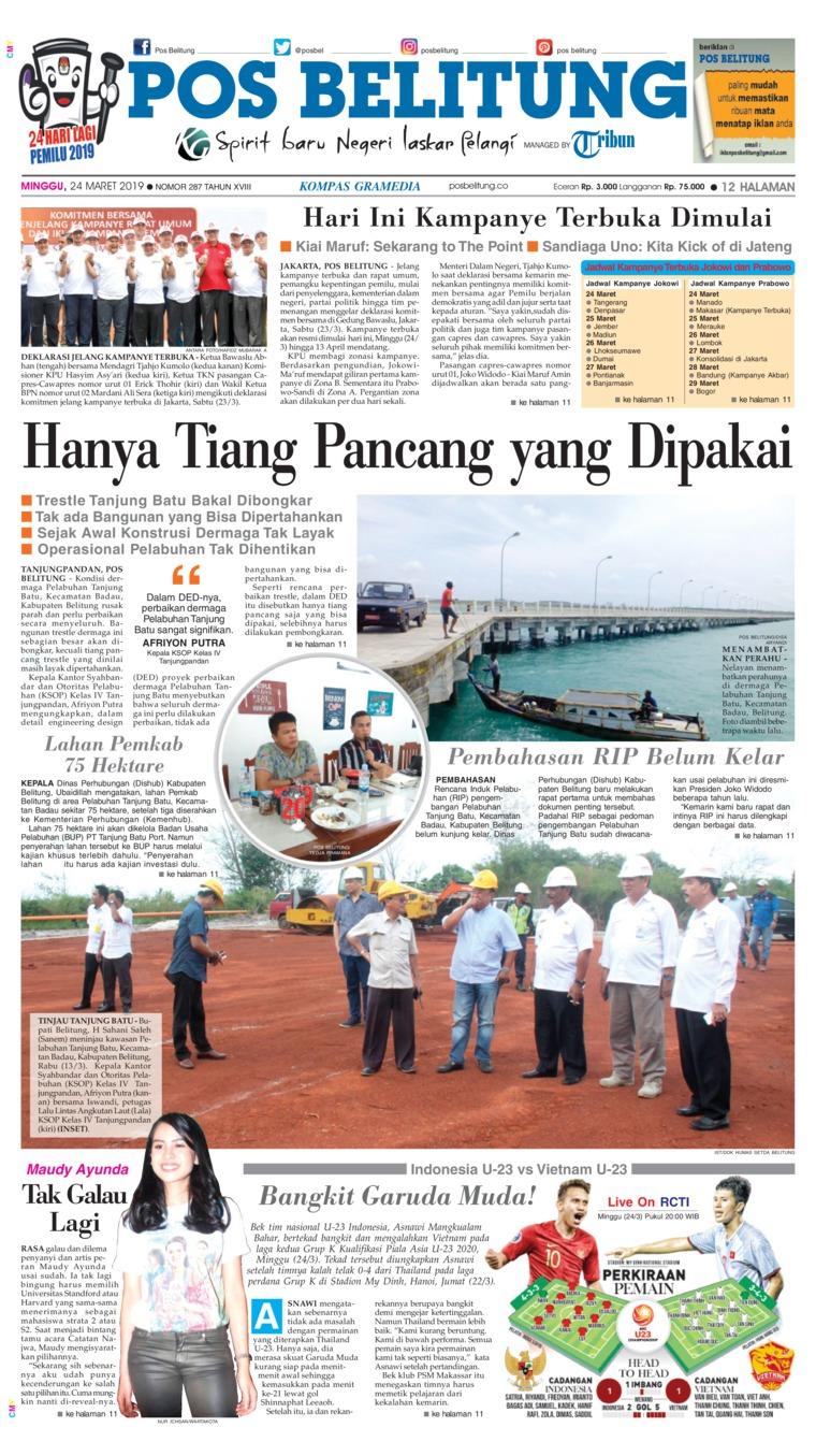 Koran Digital Pos Belitung 24 Maret 2019
