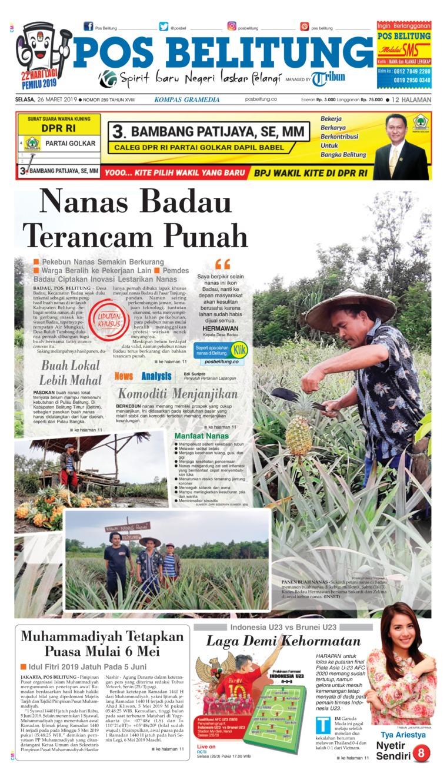 Koran Digital Pos Belitung 26 Maret 2019