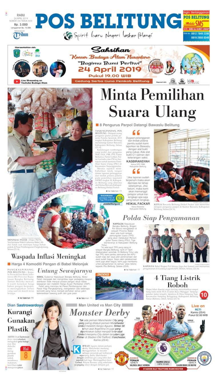Pos Belitung Digital Newspaper 24 April 2019