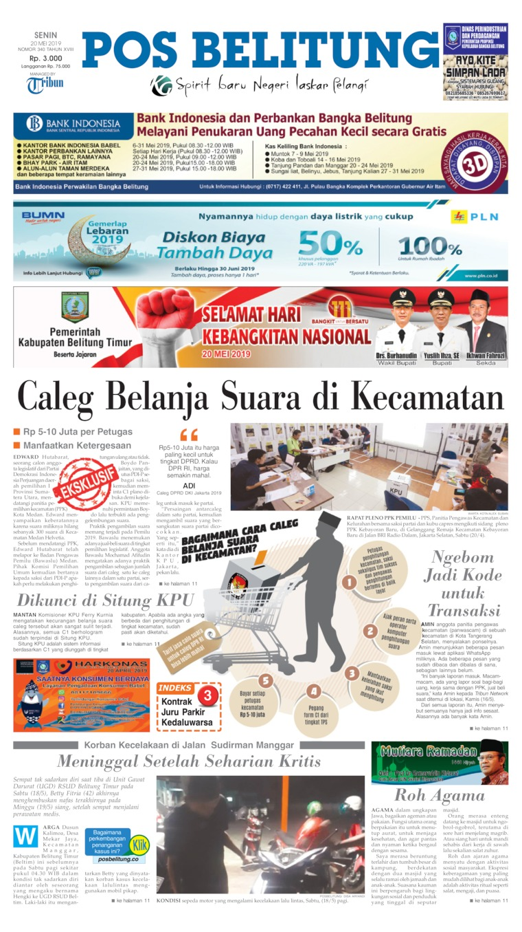 Pos Belitung Digital Newspaper 20 May 2019