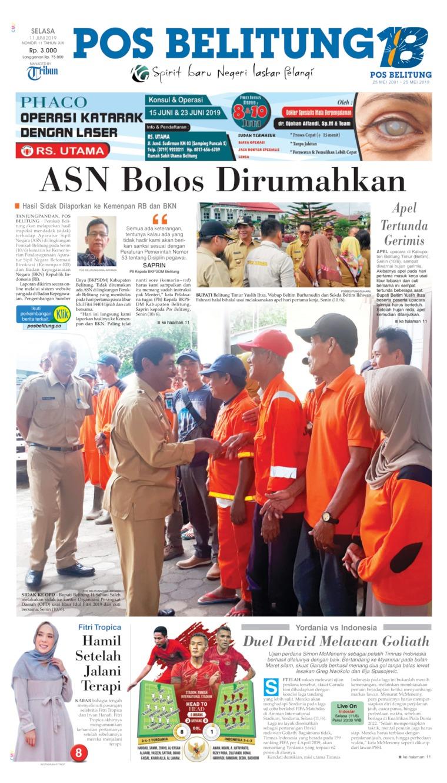 Pos Belitung Digital Newspaper 11 June 2019
