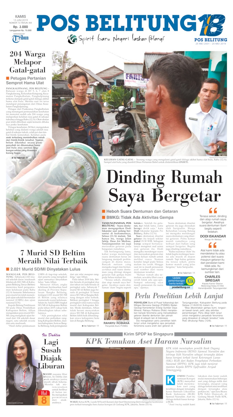 Pos Belitung Digital Newspaper 13 June 2019