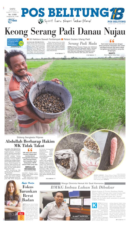 Pos Belitung Digital Newspaper 15 June 2019