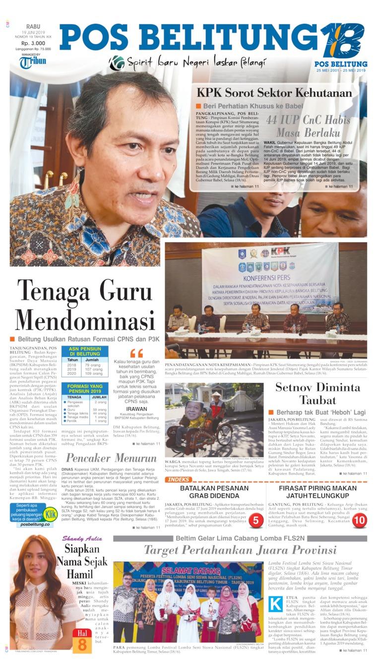 Koran Digital Pos Belitung 19 Juni 2019