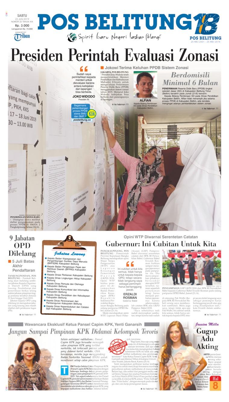 Koran Digital Pos Belitung 22 Juni 2019